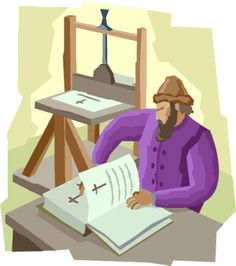 Johann Gutenberg at work