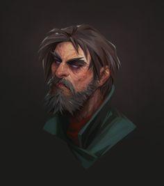 ArtStation - creepy man, Sasha Tudvaseva