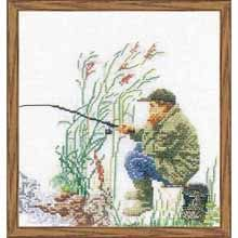 Thea Gouverneur Fishing Counted Cross-Stitch Kit