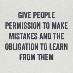 Leadership lesson on mistakes.