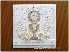 hania739: Pamiątka I Komunii Św. First Holy Communion, Daily Bread, Decor, Manualidades, Cards, Decoration, First Communion, Decorating, Deco