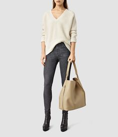 Womens Paradise North South Tote (Sand) - product_image_alt_text_1