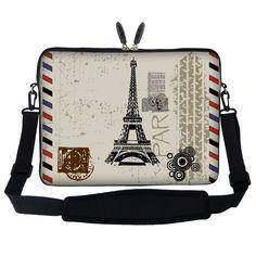 Meffort Inc 15 15.6 inch Neoprene Laptop Sleeve Bag Carrying Case with Hidden Handle and Adjustable Shoulder Strap - Paris Design Meffort Inc,http://smile.amazon.com/dp/B00BUAZRDO/ref=cm_sw_r_pi_dp_M51vtb0KZ47V9758
