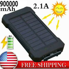 New Power Bank 900000mah 2 Usb Portable External Battery Huge Capacity Charger 15 0 Cash Back Solar Power Charger