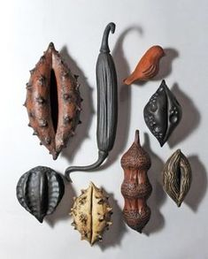 this project, students will design and create a sculptural (non-functional) hollow form depicting an organic pod from an imaginary plant. Natural seed pods and found textural elements from. Organic Form, Organic Shapes, Sculptures Céramiques, Sculpture Art, Ceramic Sculptures, Ceramic Clay, Ceramic Pottery, Motifs Organiques, Atelier Theme