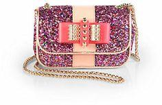 Christian Louboutin Sweet Charity Glitter Mini Shoulder Bag on shopstyle.com