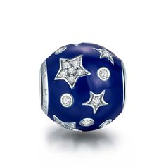 NinaQueen *Dreamland* 925 Sterling Silver Clear Zirconia Blue Star Charms Fits Pandora Bracelet(NinaQueen fine jewelry is designed in Paris in limited edition collections.NinaQueen patents its designs in 64 countries around the world. Enjoy the beauty,luxury, and quality of NinaQueen) * See this great product.