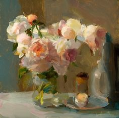 ❀ Blooming Brushwork ❀ garden and still life flower paintings - Christine Lafuente