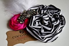 roller derby rosette cluster barrette clip by cocorosecouture