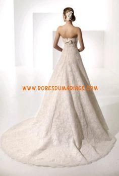 Belle robe rose avec traîne 2012 bustier robe de mariée dentelle