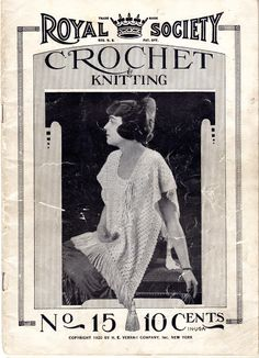 The Vintage Pattern Files: Free 1920's Crochet & Knitting Pattern - Royal Society Book No.15