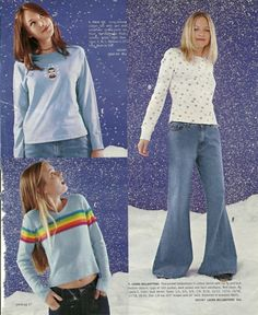 Oh 90s fashion love!  I remember this page in the magazine! I wanted that rainbow shirt SO BAD!!!