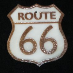 SUNCATCHER-ORNAMENT  Fused Glass Route 66  by OstisInspirations