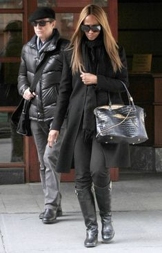 Devoted: David and Iman step out in New York