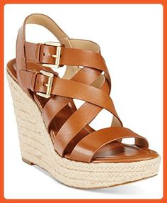 MICHAEL Michael Kors Jocelyn Espadrille Wedge Sandals Luggage (11) - Sandals for women (*Amazon Partner-Link)
