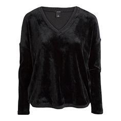 Samtiges Sweatshirt für kühlere Tage.