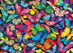 """Amazon has the Buffalo Games – Vivid Collection – Butterflies – 1000 Piece Jigsaw Puzzle marked down from $13.99 to $7.69. That is 45% off retail price! TO GET THIS DEAL: GO HERE to go to the product page and click on """"Add to Cart"""" Final price = $7.69 Shipping is free on any purchase… Buffalo Games, Puzzle 1000, Butterfly Art, Butterflies, Butterfly Pictures, Butterfly Kisses, Timeline Covers, Color Street, 1000 Piece Jigsaw Puzzles"""