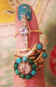 stacked rings - vintage - Bellflower Bay Antique & Vintage Jewelry