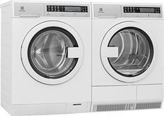 "Electrolux White Compact Laundry Pair with EIFLS20QSW 24"" Front Load Washer and EIED200QSW 24"" Electric Condense Dryer in White"