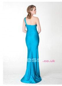Satin Brooch Sheath/Column Sleeveless Long Formal Dresses
