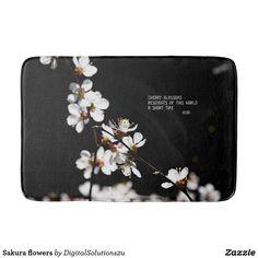 Sakura flowers bathroom mat