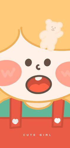 Wallpaper Wa, Drawing Wallpaper, Iphone Wallpaper, Avatar, Illustration Girl, Cute Wallpapers, Bujo, Painting & Drawing, Ulzzang