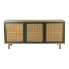 A stylish combination of solid mango wood and woven cane give the Paisley Collection a fresh contemporary style. Black doors frame the woven cane for an eclectic sideboard with loads of storage space. Dimensions: x x Materials: Mango Wood MDF Cane Furniture Deals, Dining Room Furniture, Dining Furniture, Modern Furniture, Furniture Design, Oriental Furniture, Modern Dresser, Cabinet Furniture, Vintage Furniture