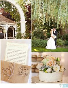 Classic Ivory Real Wedding | WeddingWire SUMMERBOOK 2013  - love the wine bottle table numbers