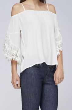 BohoPink - Andree By Unit Boho Chic White Cold Shoulder Top, $38.00 (http://www.bohopink.com/andree-by-unit-boho-chic-white-cold-shoulder-top/)