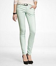 STELLA COLORED BRUSHED SATEEN LEGGING - MINT GREEN