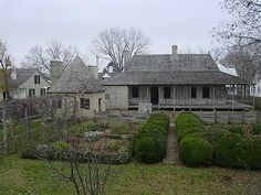 Bolduc House in Saint Genevieve, Missouri, built about is one of the best preserved examples of French Colonial style architecture French Creole, French Colonial, French Architecture, Small Buildings, Picture Design, Beautiful Homes, House Beautiful, My Dream Home, Exterior Design