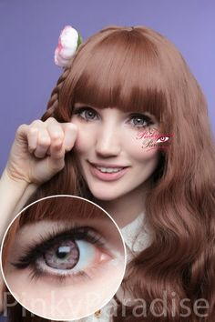 EOS Big Flower Pink Circle Lenses (Colored Contacts)