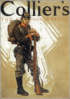 Collier's - J.C. Leyendecker - 1914 It always impresses me when someone can create something that looks this refined with such rough strokes.