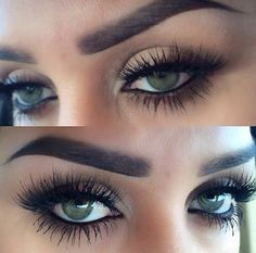 Thick eyebrows and lots of lash..I'm obsessed ♥