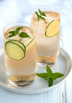 Rock shandy with vodka, cucumber and mint by Samantha Linsell of Drizzle and Dip