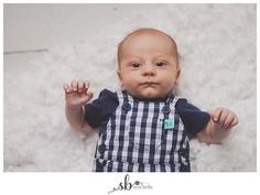 baby studio photography, two months old, new bern nc, sera bella photography