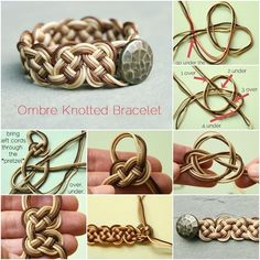 How to DIY Stylish Ombre Knotted Bracelet tutorial and instruction. Follow us: www.facebook.com/fabartdiy