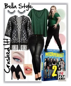 """""""Fat Amy is Beautiful"""" by bee4735 on Polyvore featuring H&M, City Chic, Zizzi, Nails Inc., Charlotte Tilbury, pitchperfect2 and plus size clothing"""