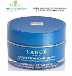 LANGE Paris luxury Bio-cosmetics LIGHTENING CREAM MASK-Lightening - Brightening  #LANGEParisFranceluxurybotanicalcosmetics
