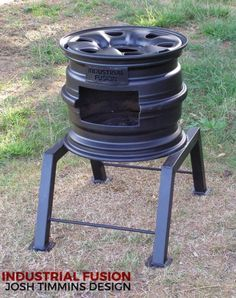 rocket stove and grill Wood Stove Heater, Diy Wood Stove, Rim Fire Pit, Fire Pit Bbq, Fire Pits, Diy Grill, Outdoor Stove, Cooking Stove, Fire Pit Designs