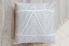 Uneasy Stripes Pillow by Jen Florentine | Minted