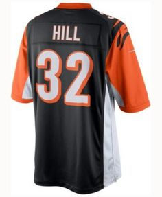 Nike Men's Jeremy Hill Cincinnati Bengals Limited Jersey - Black XXL