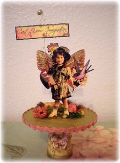 CaSt YouR ImaGiNatiOn ALteReD ARt FaiRy SpOoL MiXeD MeDiA ViNtaGe FLoRaL. $21.90, via Etsy.