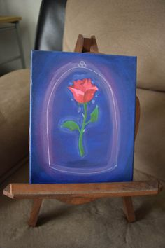 Beauty and the Beast Rose by Nicole Fischer on Etsy