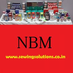 NBM Sewing Threads. Best Quality Right Quantity
