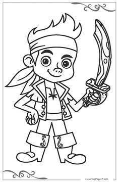 Our coloring pages offer younger children wonderful opportunities to develop their creativity and work their pencil grip in preparation for learning how to write. Jake and the Never Land Pirates Free printable coloring pages Pirate Coloring Pages, Batman Coloring Pages, Free Printable Coloring Pages, Colouring Pages, Free Coloring, Coloring Pages For Kids, Coloring Sheets, Coloring Books, Bateau Pirate