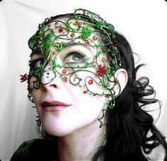 midsummer womens masquerade maskcostume by gringrimaceandsqueak, £335.00
