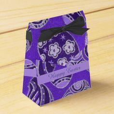 Check out Zazzle's variety of favor boxes! Browse all of our wonderful designs and get your favor bag today! Easter Cookies, Crochet Patterns For Beginners, Easter Crafts For Kids, Chocolate Box, Favor Boxes, Craft Stick Crafts, Baby Blanket Crochet, Easter Eggs, Purple