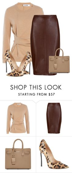 """Untitled #314"" by the-luxurious-glam ❤ liked on Polyvore featuring Jil Sander, M&S Collection, Yves Saint Laurent and Casadei"