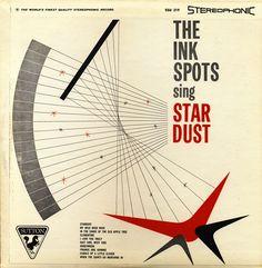 LP cover, 50's art, vintage
